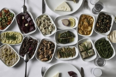 An Assortment Of Mezes at Hotel Restaurant - Barbavasilis'te Karışık Mezeler