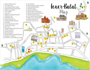 Fener Balat Area Map